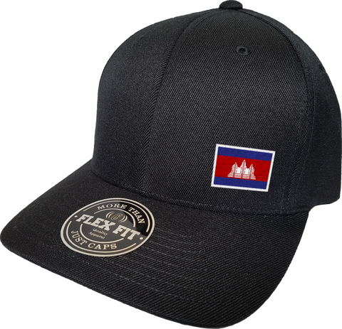 Cambodia Cap Flex Fit FLS Black