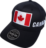 Canada Big Flag Cap Flex Fit Black