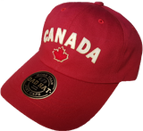 Canada Felt Block Adjustable Dad Cap Red