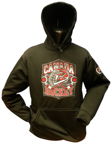 Canada Hockey Hoodie Black Therma