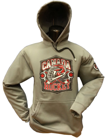 Canada Hockey Hoodie Grey Therma