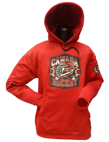 Canada Hockey Hoodie Red 17oz Cotton