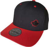 Canada Leaf Adjustable Cap Black and Red