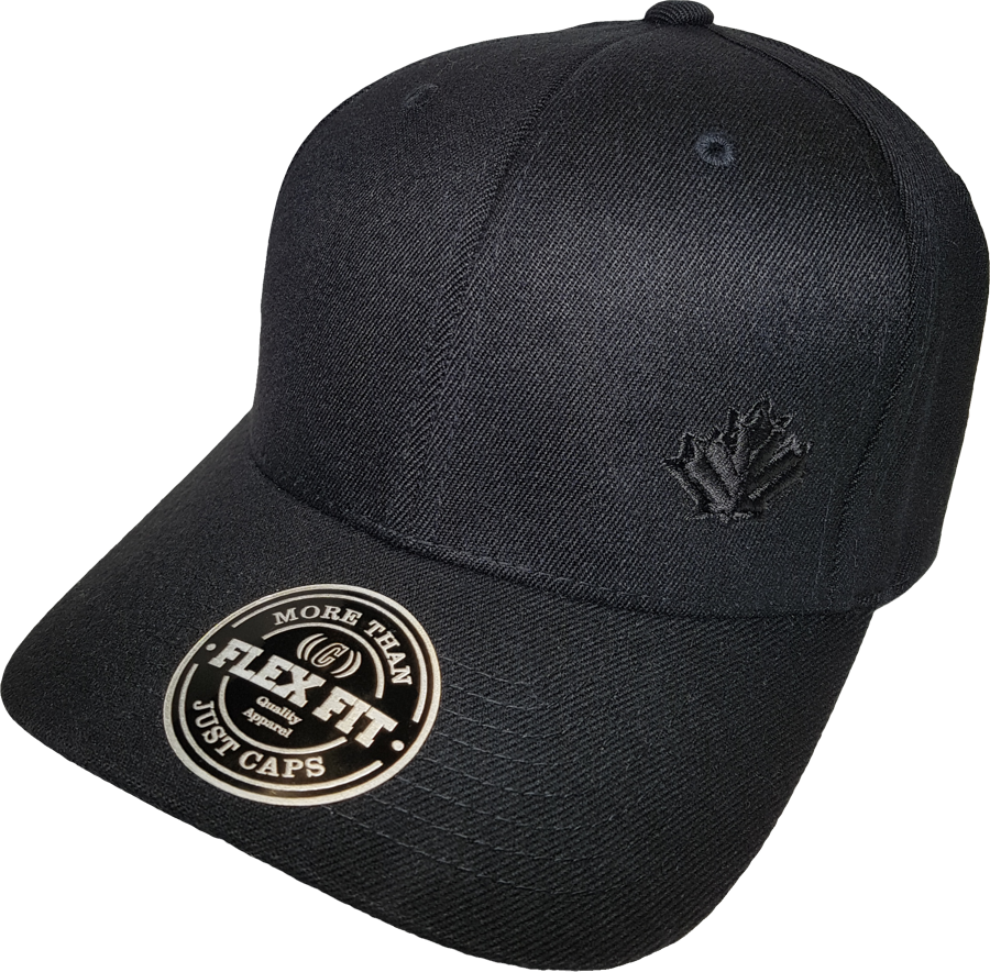 Canada Leaf Blackout Flex Fit Cap