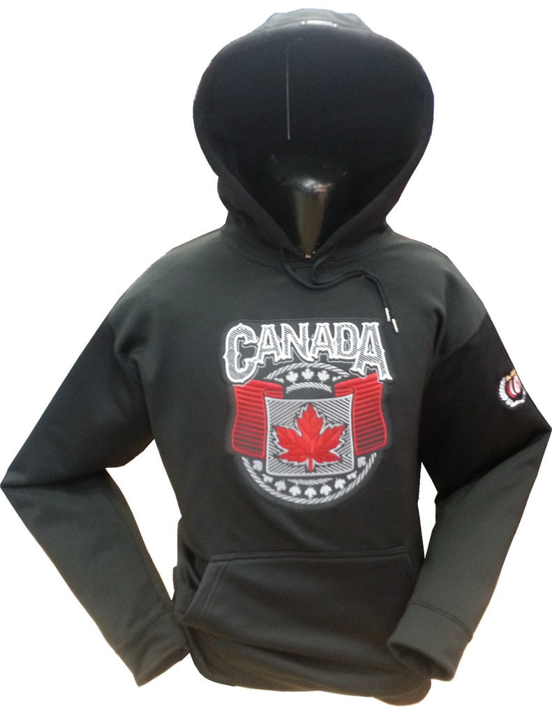 Canada Wings Hoodie Black 15oz Cotton