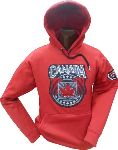 Canada Wings Hoodie Red 15oz Cotton