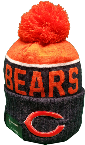 Chicago Bears Sideline Knit Pom Toque