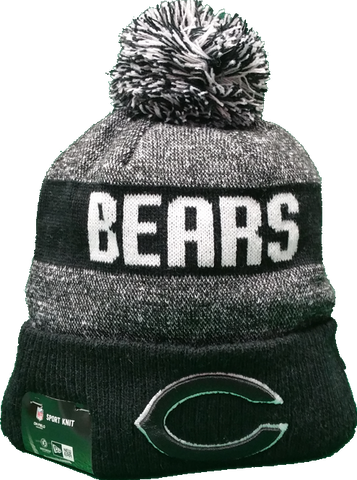 Chicago Bears Black 2016-2017 Sideline Knit Pom Toque