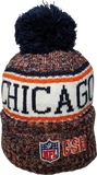 Chicago Bears NFL 18 Sideline Pom Toque