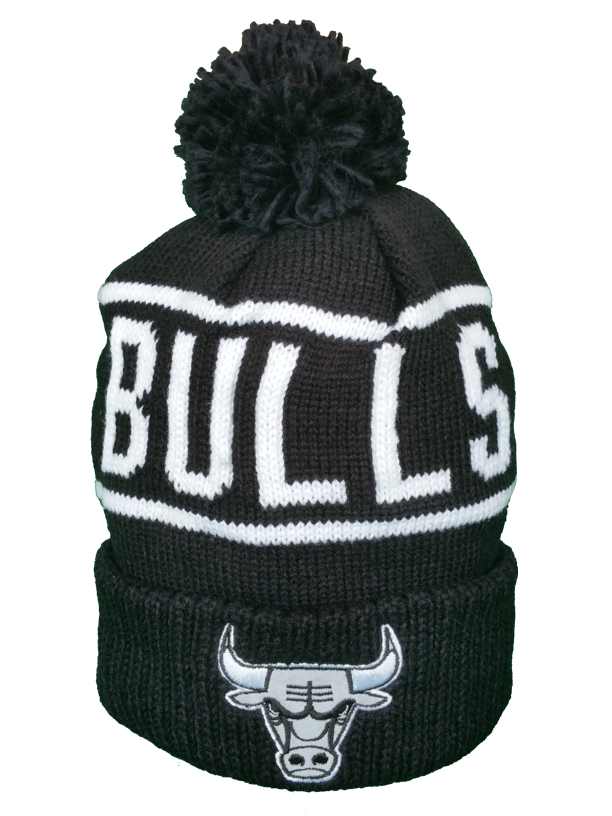 1cf288a520e Chicago Bulls Toque Black and White Reflective Logo Pom – More Than Just  Caps Clubhouse
