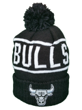Chicago Bulls Mitchell & Ness Black and White Reflective Logo NBA Toque