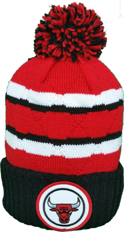 Chicago Bulls Mitchell & Ness High Five NBA Pom Toque