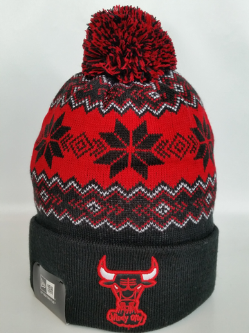 Chicago Bulls Snowflake Pom Toque