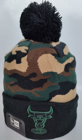 Chicago Bulls Woodland Camo Pom Toque