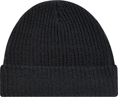 Chunky Waffle Knit Cuffed Toque Black