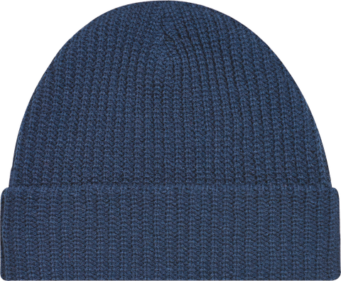 Chunky Waffle Knit Cuffed Toque Navy