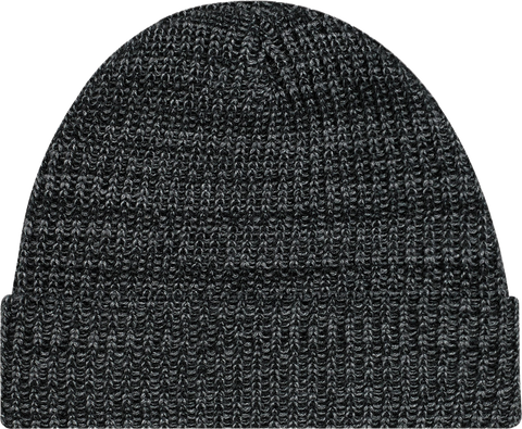 Chunky Waffle Knit Cuffed Toque Black Heather