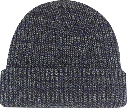 Chunky Waffle Knit Cuffed Toque Navy Heather