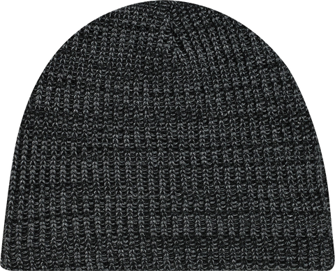 Chunky Waffle Knit Board Toque Black Heather