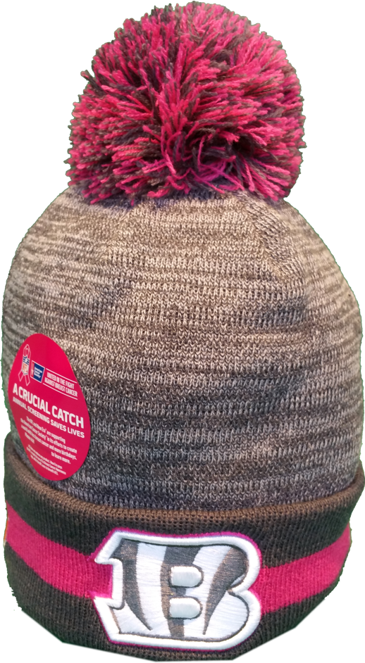 Cincinnati Bengals Breast Cancer Awareness Pom Toque – More Than Just Caps  Clubhouse d1516ab1da08