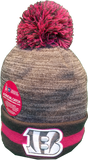 Cincinnati Bengals Breast Cancer Awareness Sideline Fleece Pom Toque