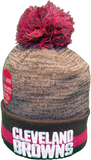 Cleveland Browns Breast Cancer Awareness Sideline Fleece Pom Toque