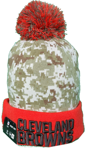 Cleveland Browns Salute to Service Sideline Fleece Pom Toque