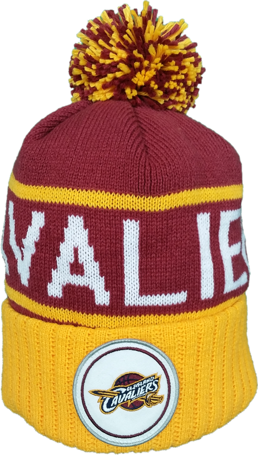 Cleveland Cavaliers Mitchell & Ness Logo and Text NBA Toque