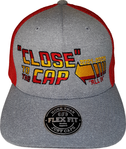 Close To The Cap MelnykOut Meshback Flex Fit Melange Red
