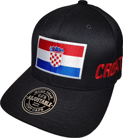 Croatia Big Flag Cap Adjustable Black