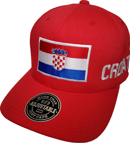 Croatia Big Flag Cap Adjustable Red