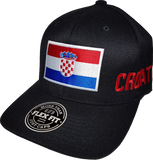 Croatia Big Flag Cap Flex Fit Black