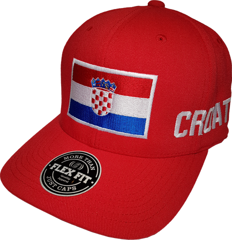 Croatia Big Flag Cap Flex Fit Red
