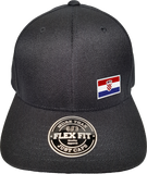 Croatia Cap Flex Fit FLS Black
