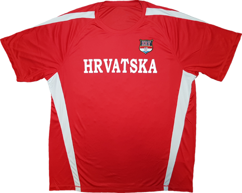 Croatia Twill Patch Tech Jersey Red-White