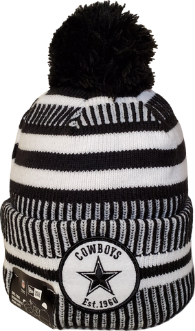 Dallas Cowboys Black Knit Pom Toque NFL Sideline