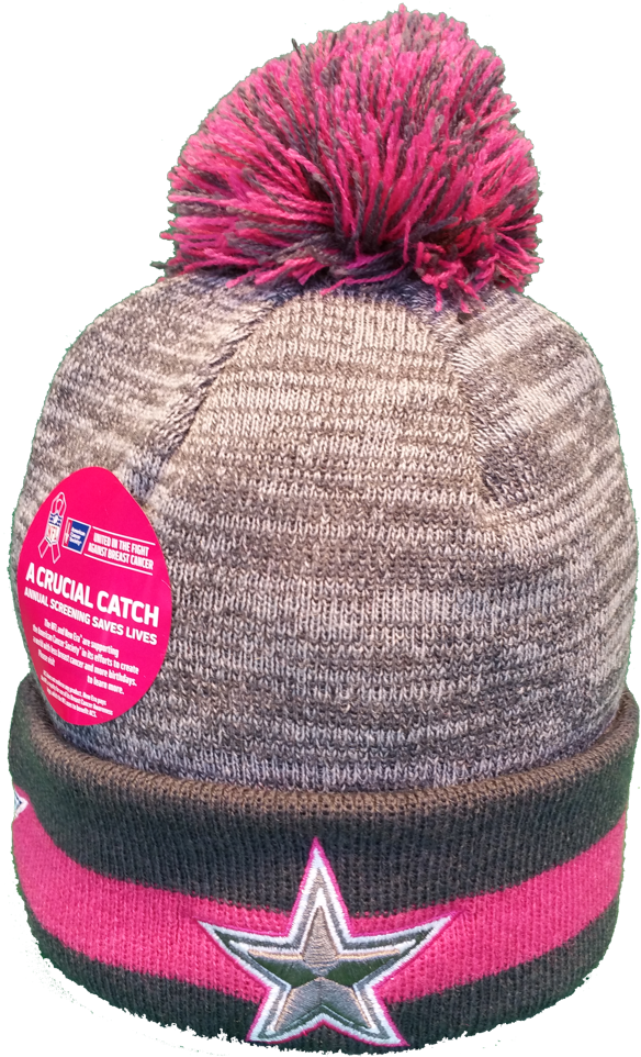 fb25a95ed Dallas Cowboys Breast Cancer Awareness Sideline Toque – More Than Just Caps  Clubhouse