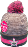 Dallas Cowboys Breast Cancer Awareness Sideline Fleece Pom Toque