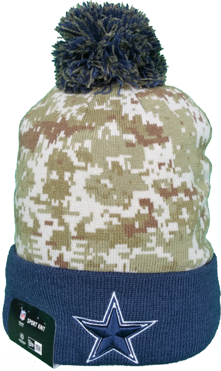 Dallas Cowboys Salute to Service Sideline Pom Toque – More Than Just Caps  Clubhouse d94688e4e