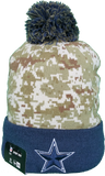 Dallas Cowboys Salute to Service Sideline Fleece Pom Toque