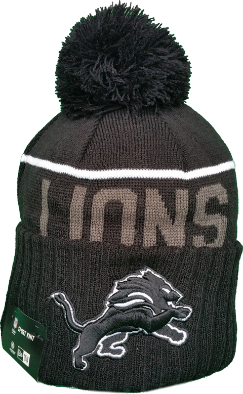 71957385552 Detroit Lions Fleece Lined Black Pom Toque – More Than Just Caps Clubhouse
