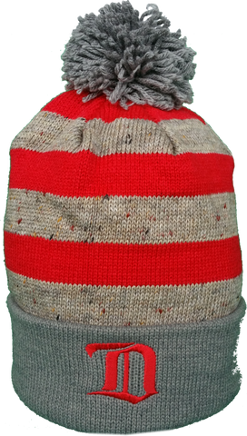 Detroit Red Wings Vintage Speckled Oatmeal Pom Toque