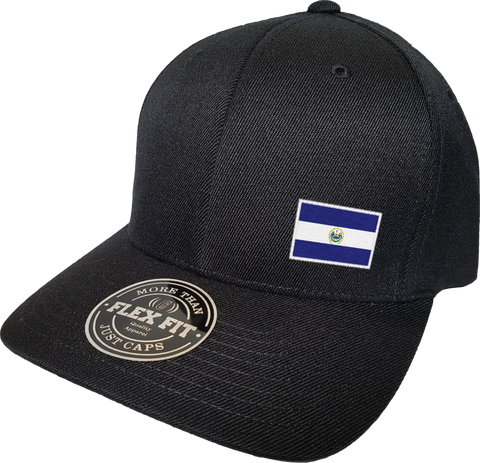 El Salvador Cap Flex Fit FLS Black