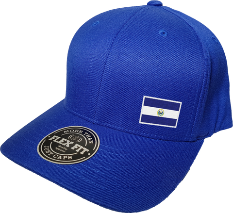 El Salvador Cap Flex Fit FLS Blue