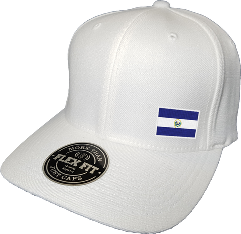 El Salvador Cap Flex Fit FLS White