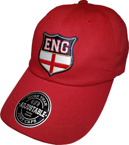 England Shield Cap Adjustable Dad Hat Red
