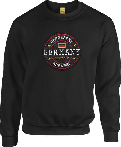 Germany Benchmark Crew Neck Sweater Black