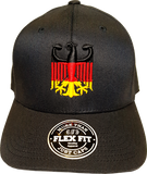 Germany Cap Chivalry Flag Flex Fit Black