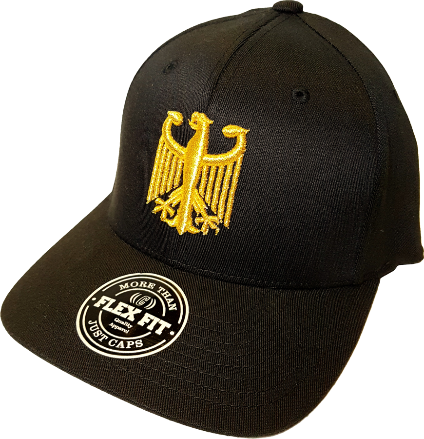 Germany Cap Chivalry Metallic Flex Fit Black