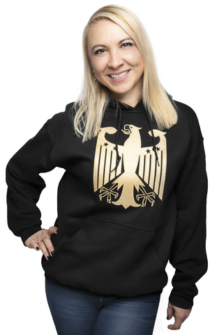 Germany Chivalry Hoodie Black Metallic Gold